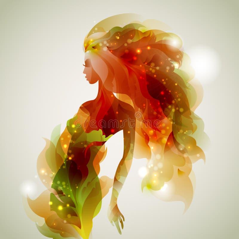 Abstracte dame vector illustratie