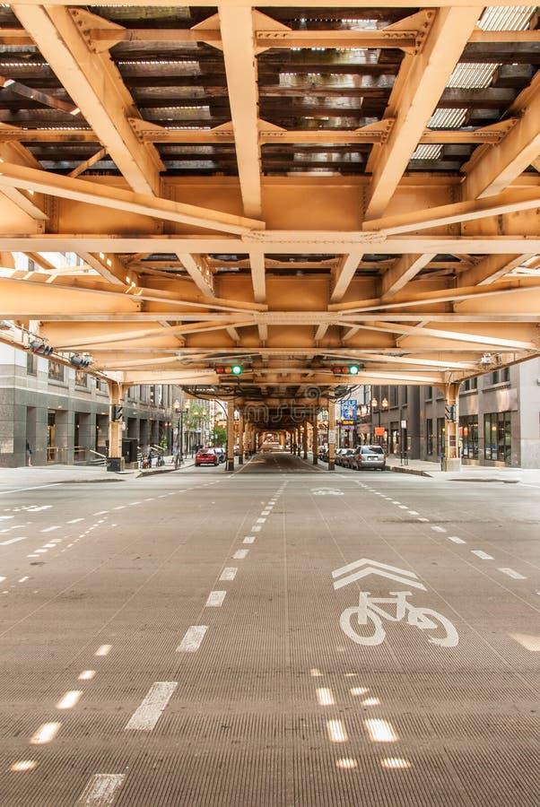 Abstracte de architectuurmening van Chicago royalty-vrije stock fotografie