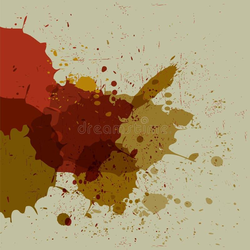 Abstracte de borstelslagen van de grungeplons vector illustratie