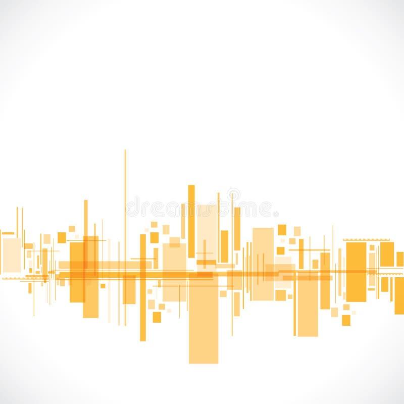 Abstracte de bouwachtergrond vector illustratie
