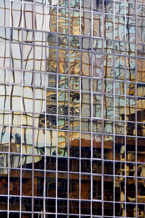 Abstracte de bouwbezinning stock afbeeldingen