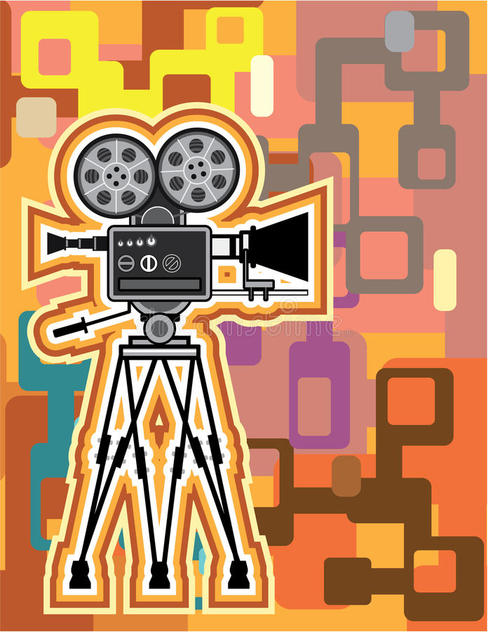 Abstracte de cameravector van de Achtergrondfilmprojectorfilm vector illustratie