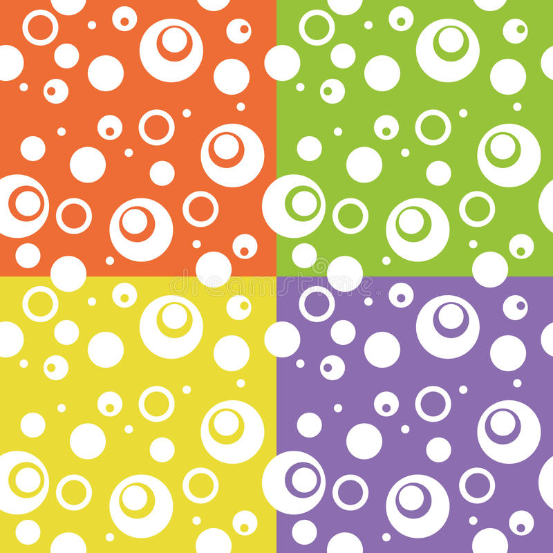 Abstracte de cirkelachtergrond van de kleurenpret royalty-vrije stock fotografie