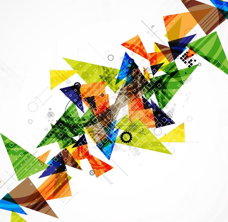 Abstracte de computertechnologie van bedrijfs Internet oplossing vector illustratie