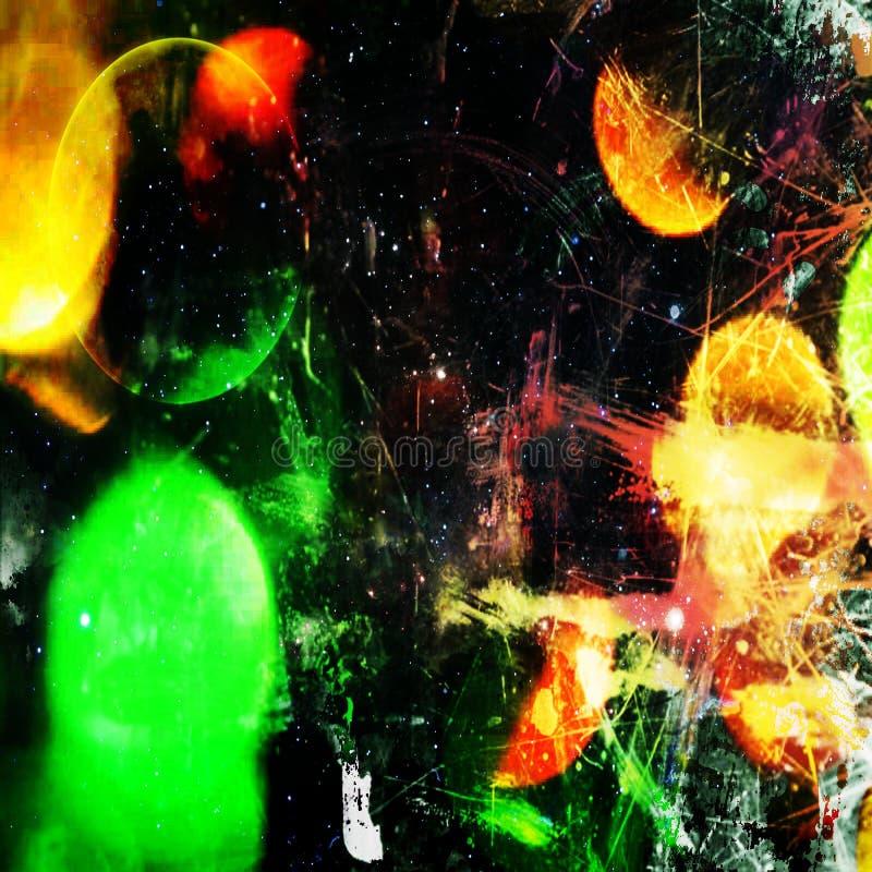 Abstracte de druktoekomst van de muurkunst stock fotografie