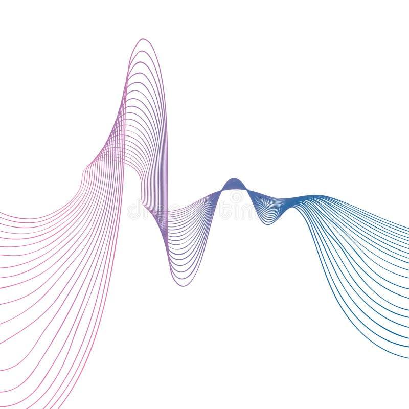 Abstracte de gradiënt van de lijngolf vectorillustratie als achtergrond royalty-vrije illustratie