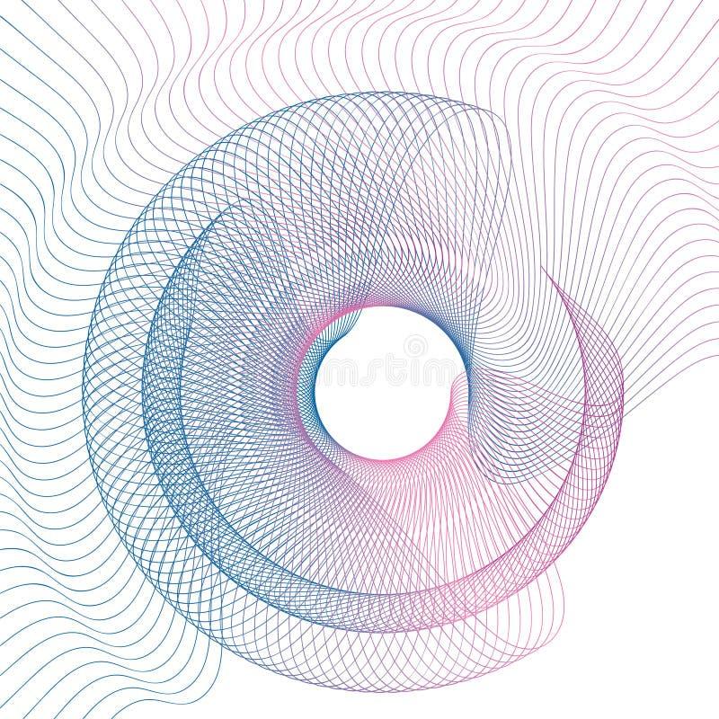 Abstracte de gradiënt van de lijngolf vectorillustratie als achtergrond stock illustratie