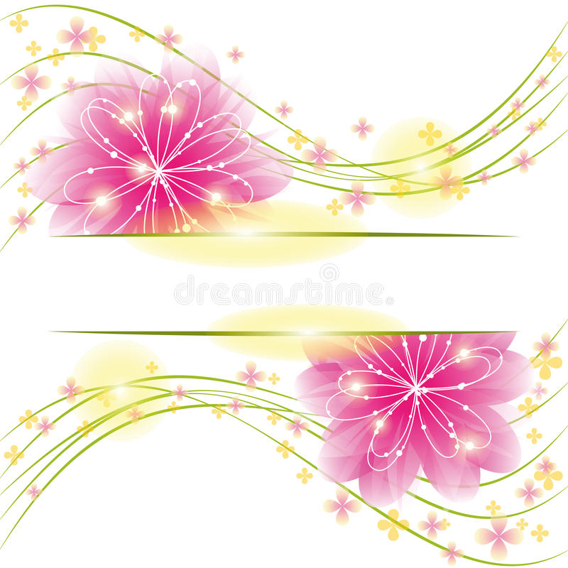 Abstracte de groetkaart van de de lentebloem royalty-vrije illustratie