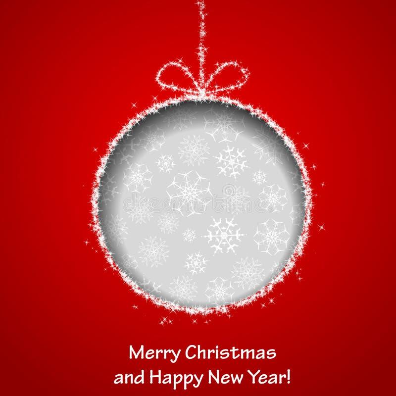 Abstracte de groetkaart van Kerstmis vector illustratie