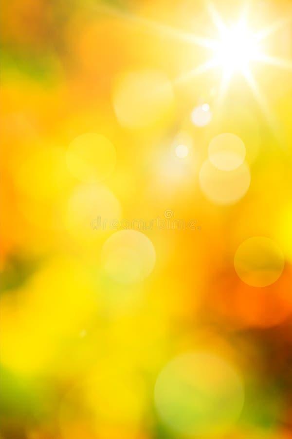Abstracte de herfstachtergrond van de kunst stock afbeeldingen