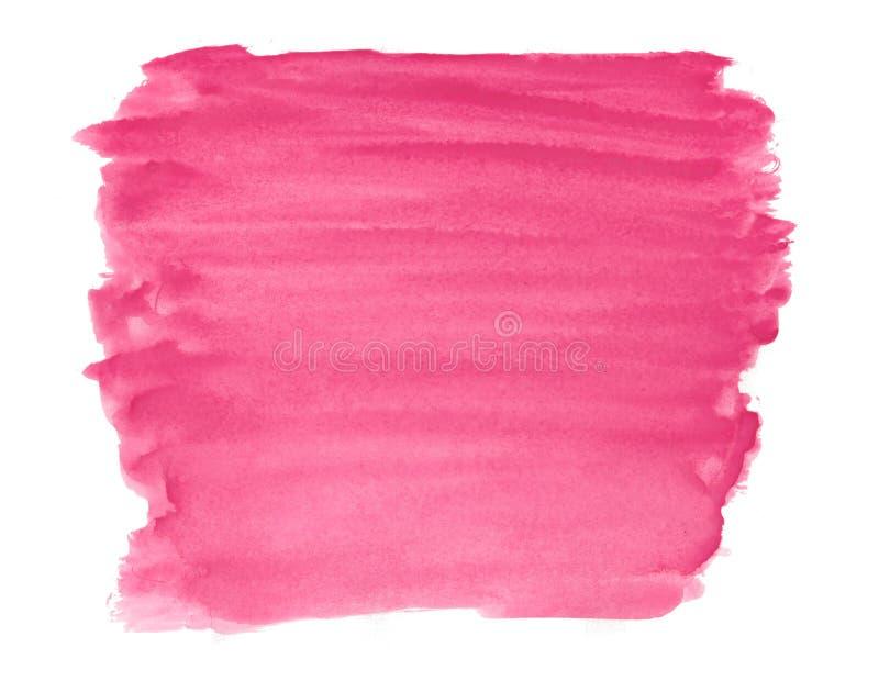 Abstracte de inkt van de van de achtergrond textuurborstel de plonsverf rode roze aquarellwaterverf op witte achtergrond stock afbeelding