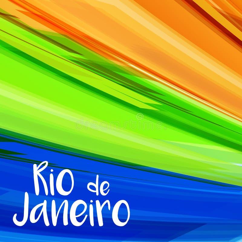 Abstracte de kleuren lichte achtergrond van Rio stock illustratie