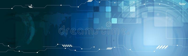 Abstracte de kopbalbanner van het technologieweb royalty-vrije illustratie