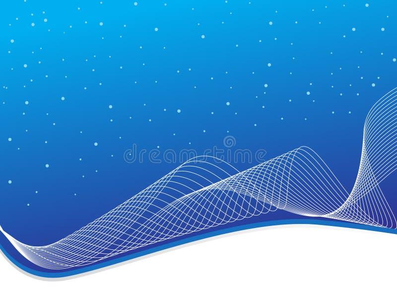Abstracte de kunstachtergrond van de Lijn, gestileerde golven stock illustratie