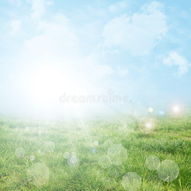 Abstracte de lente en de zomerachtergrond stock afbeelding