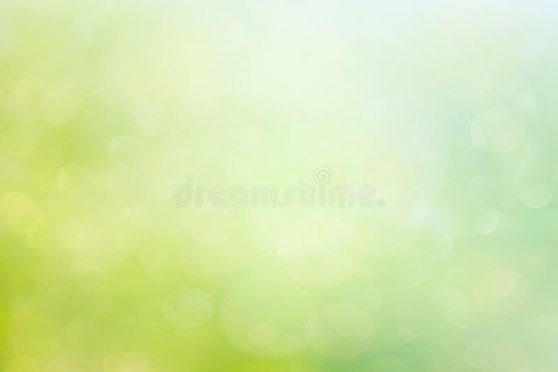 Abstracte de lente of de zomer bokeh achtergrond stock illustratie