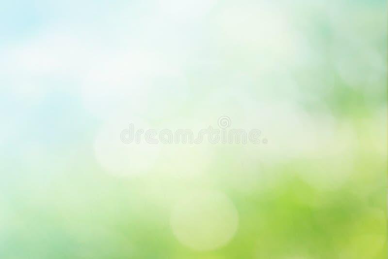Abstracte de lente of de zomer bokeh achtergrond royalty-vrije illustratie