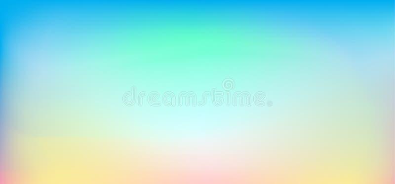 Abstracte de Lentevakantie vage achtergrond, behang van de de banner het blauwe horizon van de zonsonderganghemel
