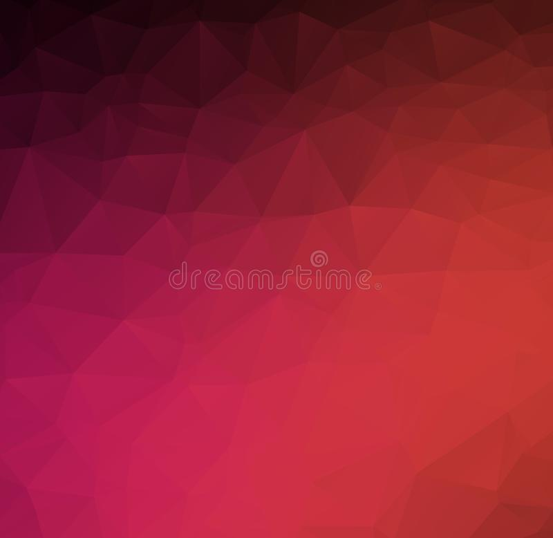 Abstracte de meetkunde purpere sensatie van de Achtergrond moderne textuurdriehoek Abstract vector in oranje driehoekig patroon M stock illustratie