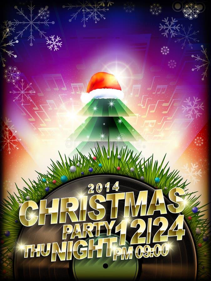 Abstracte de partijaffiche van de Kerstmismuziek vector illustratie