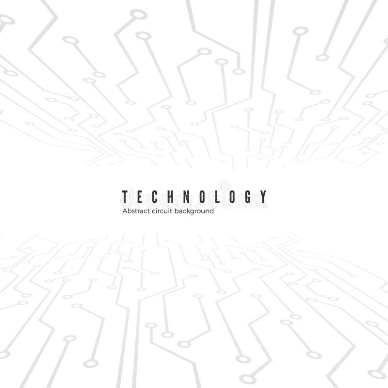 Abstracte de raadsachtergrond van de Technologiekring Abstracte motherboard textuur Vector illustratie vector illustratie