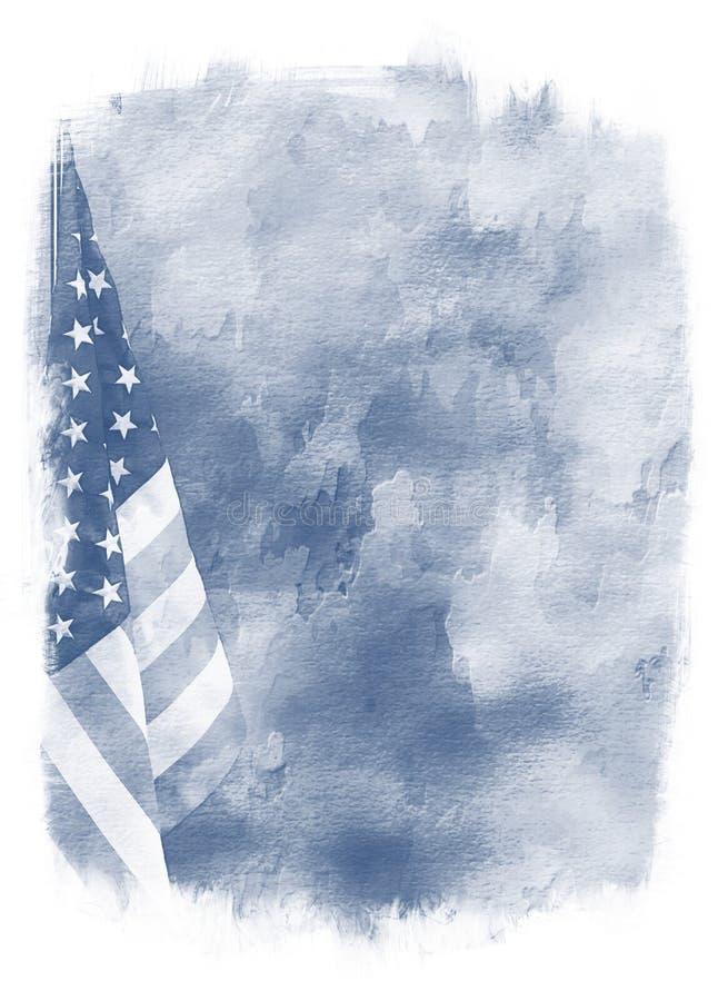 Abstracte de vlagachtergrond van de V stock illustratie