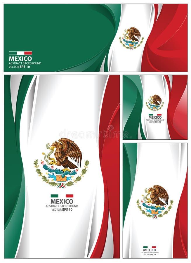 Abstracte de Vlagachtergrond van Mexico royalty-vrije illustratie