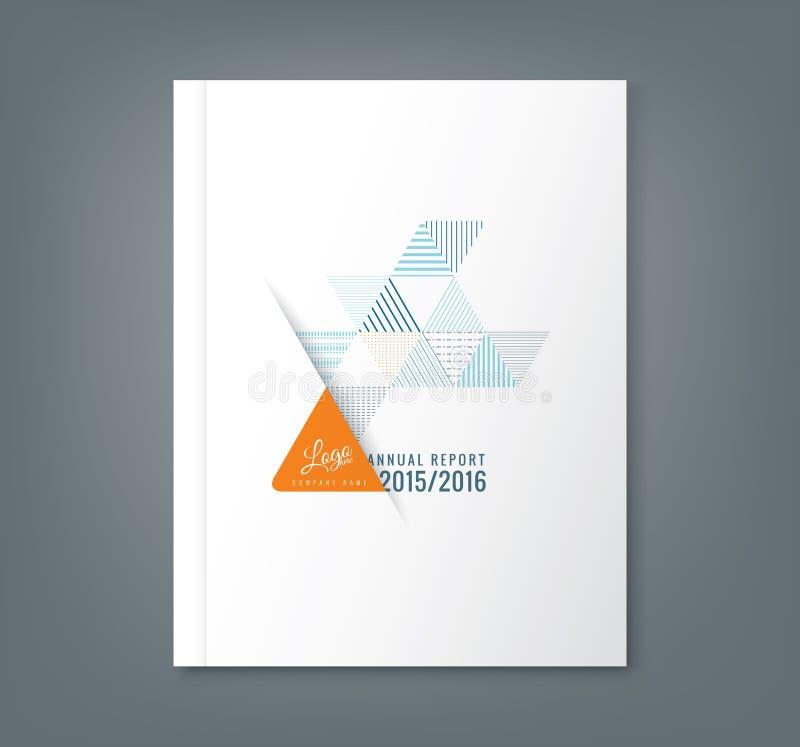 Abstracte de vormachtergrond van de driehoeksstreep voor de dekking van het bedrijfs jaarverslagboek stock illustratie