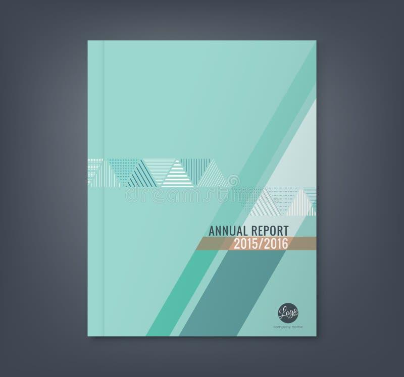 Abstracte de vormachtergrond van de driehoeksstreep voor de dekking van het bedrijfs jaarverslagboek royalty-vrije illustratie