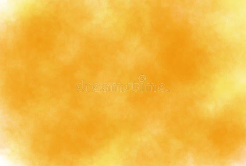 Abstracte de waterverf grunge achtergrond van de zacht-kleuren uitstekende pastelkleur met gekleurde schaduwen van oranje en gele stock illustratie