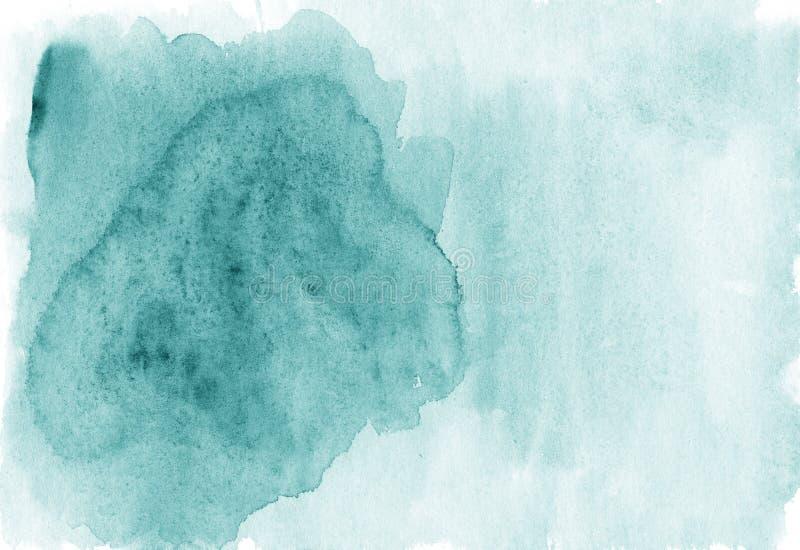 Abstracte de waterverfachtergrond van de celadonkleur met ruimte voor tekst vector illustratie