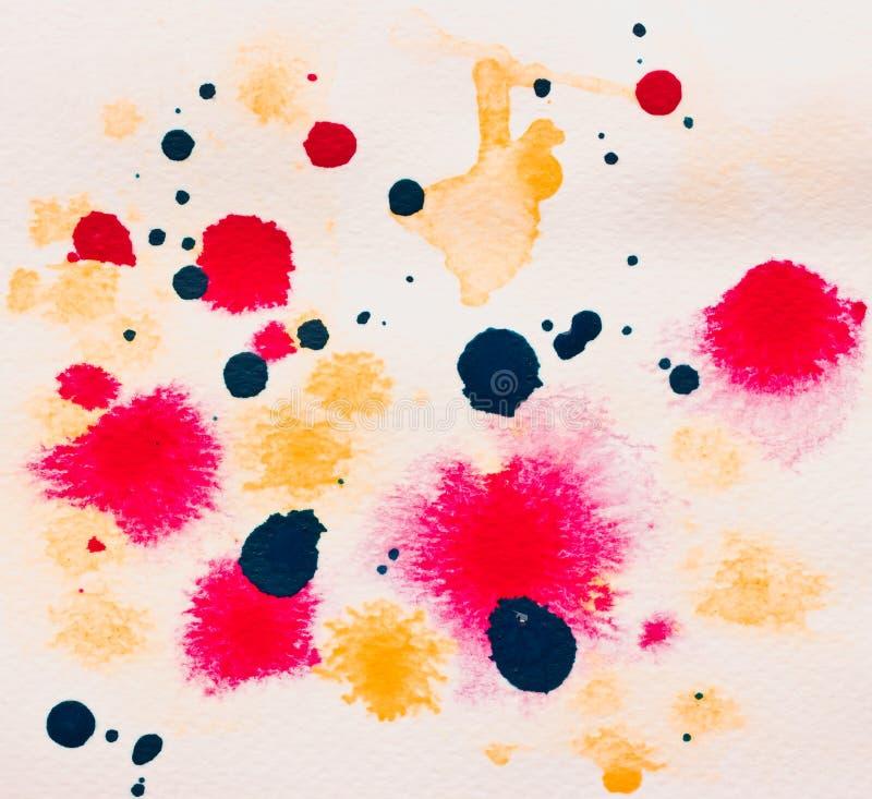 Abstracte de waterverfachtergrond van Grunge. stock foto's