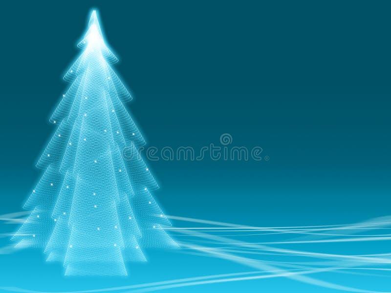 Abstracte de winter blauwe illusie stock illustratie