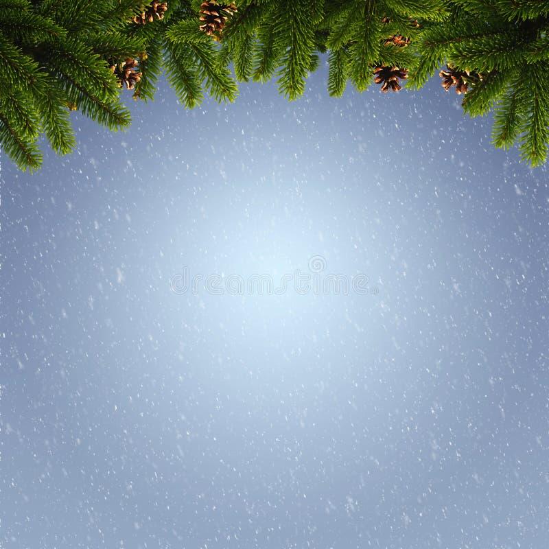 Abstracte de winter en Kerstmisachtergronden stock afbeeldingen