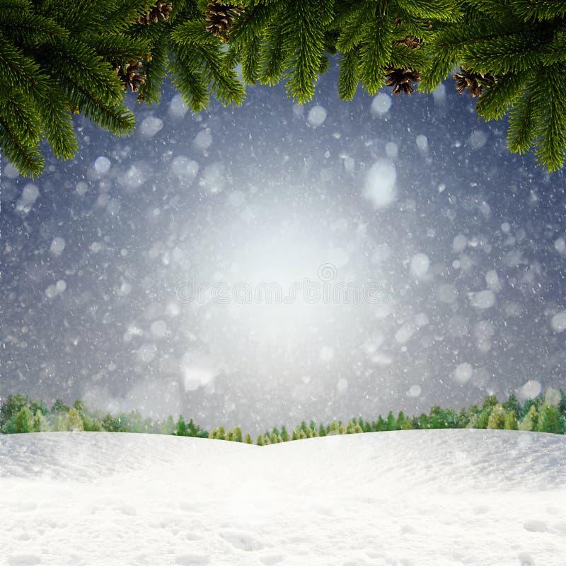 Abstracte de winter en Kerstmisachtergronden stock afbeelding