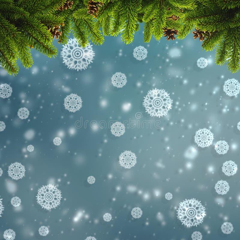 Abstracte de winter en Kerstmisachtergronden royalty-vrije stock afbeeldingen