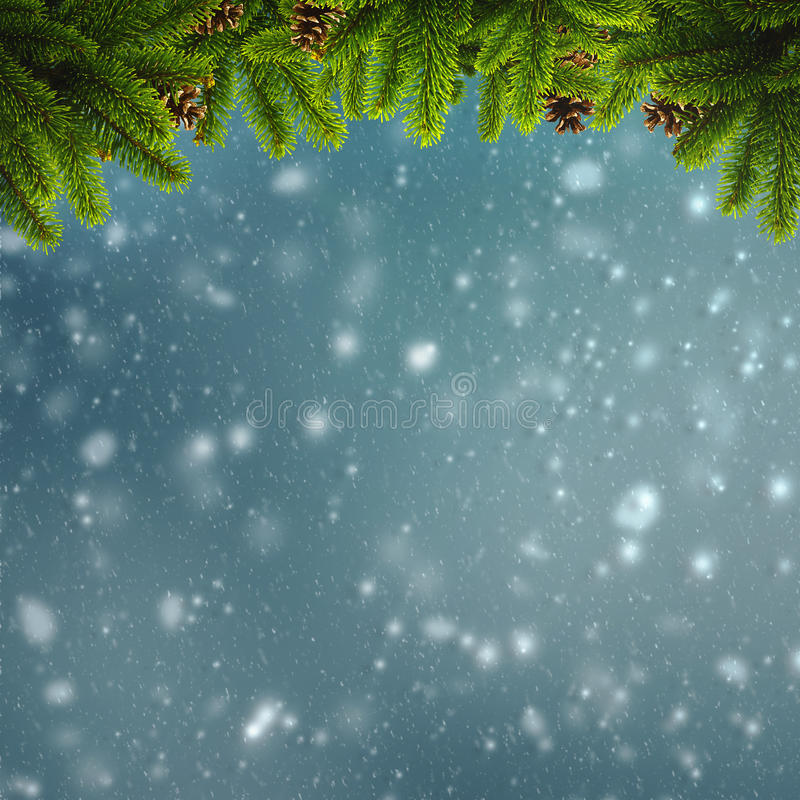 Abstracte de winter en Kerstmisachtergronden stock foto's