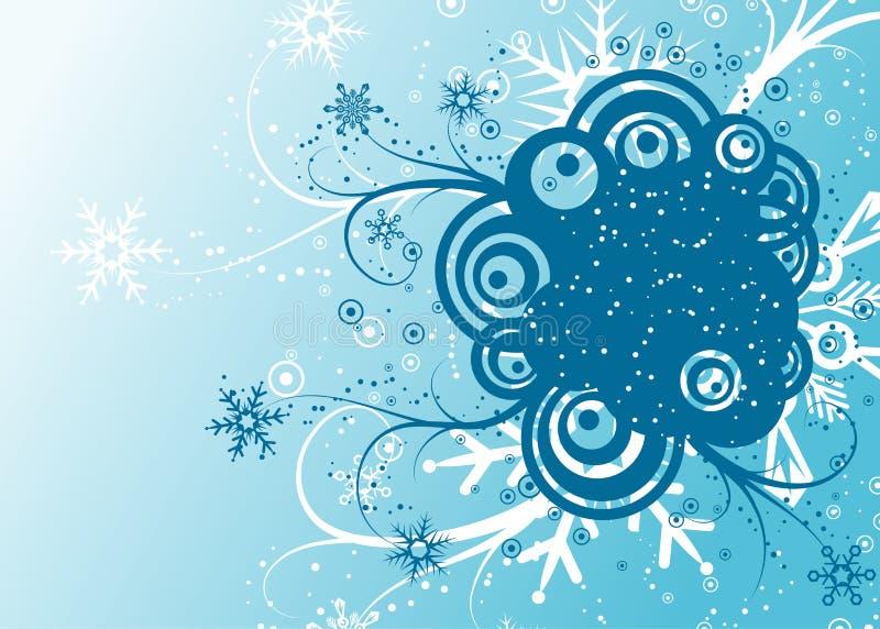 Abstracte de winterachtergrond, vector royalty-vrije illustratie