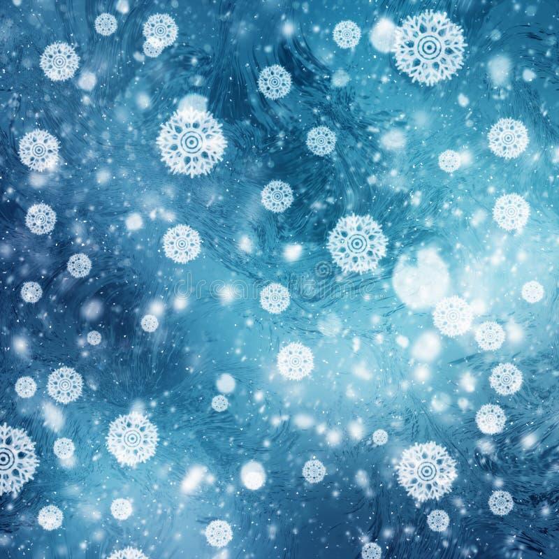 Abstracte de winterachtergronden royalty-vrije stock afbeeldingen