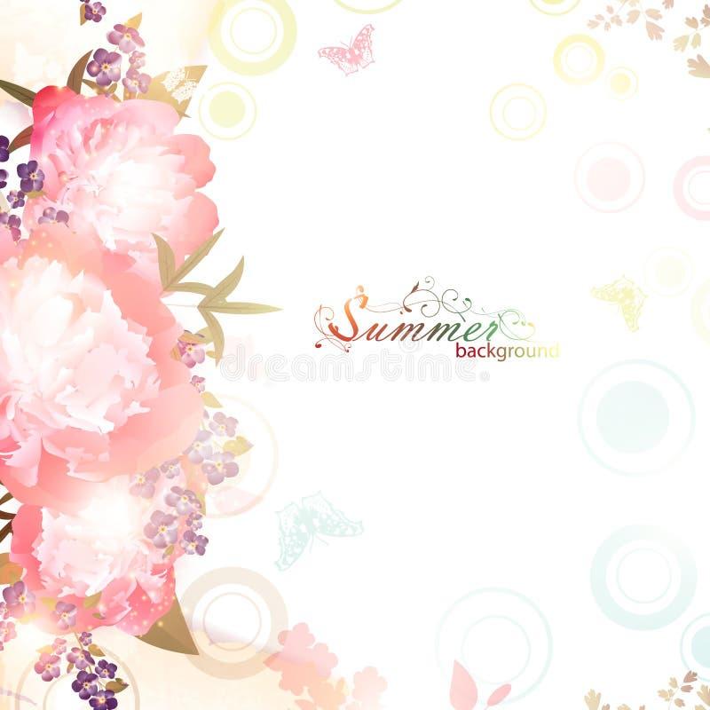 Abstracte de zomer bloemenachtergrond vector illustratie