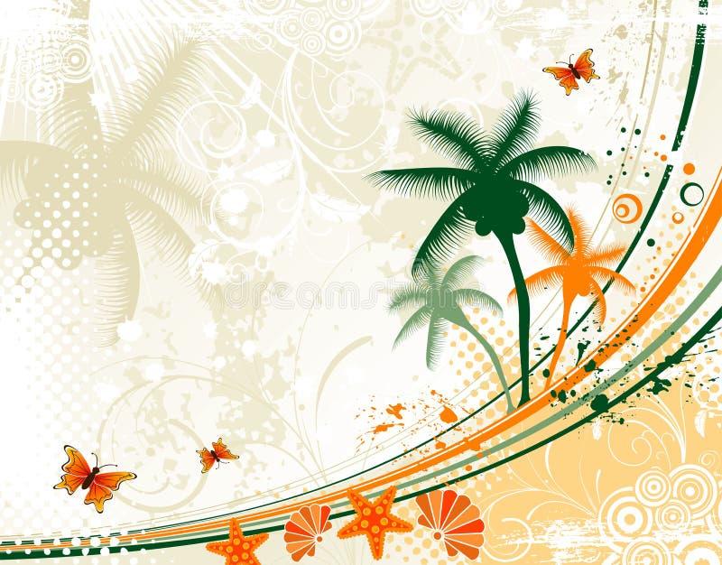 Abstracte de zomerachtergrond vector illustratie