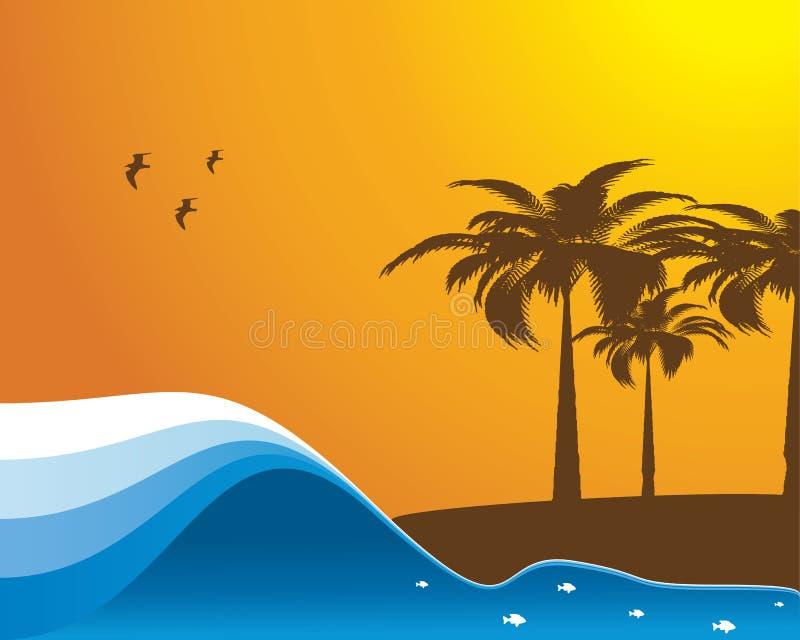 Abstracte de zomervector stock illustratie