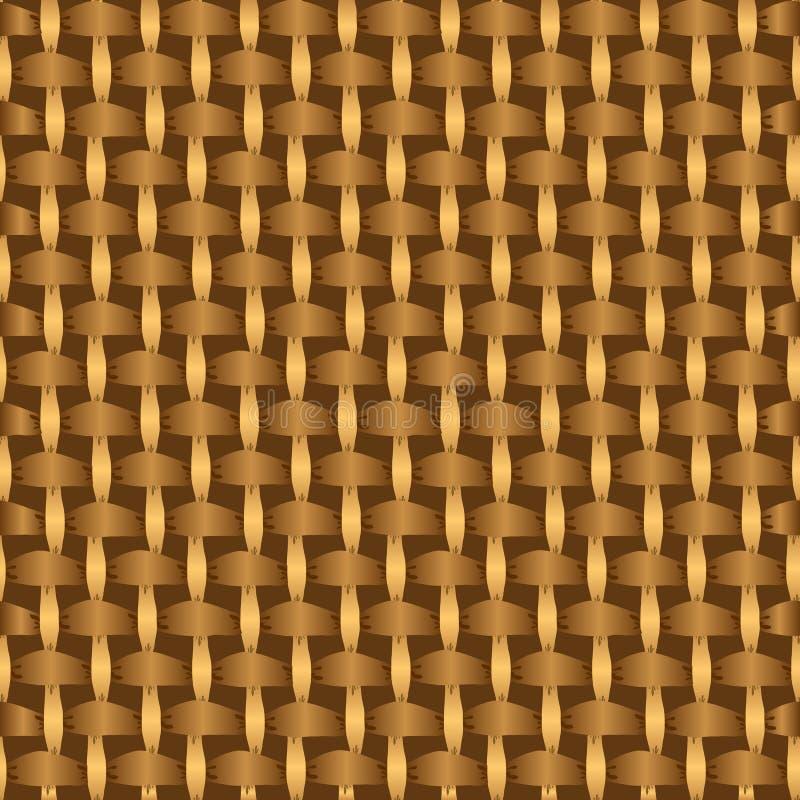 Abstracte decoratieve houten gestreepte geweven mandewerkachtergrond royalty-vrije illustratie