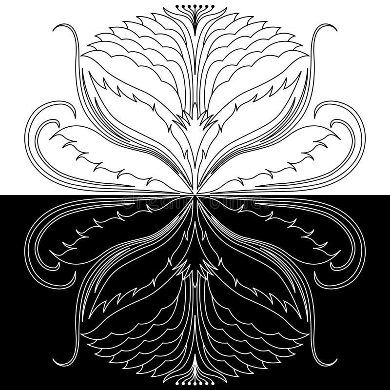 Abstracte decoratieve rozet vector illustratie
