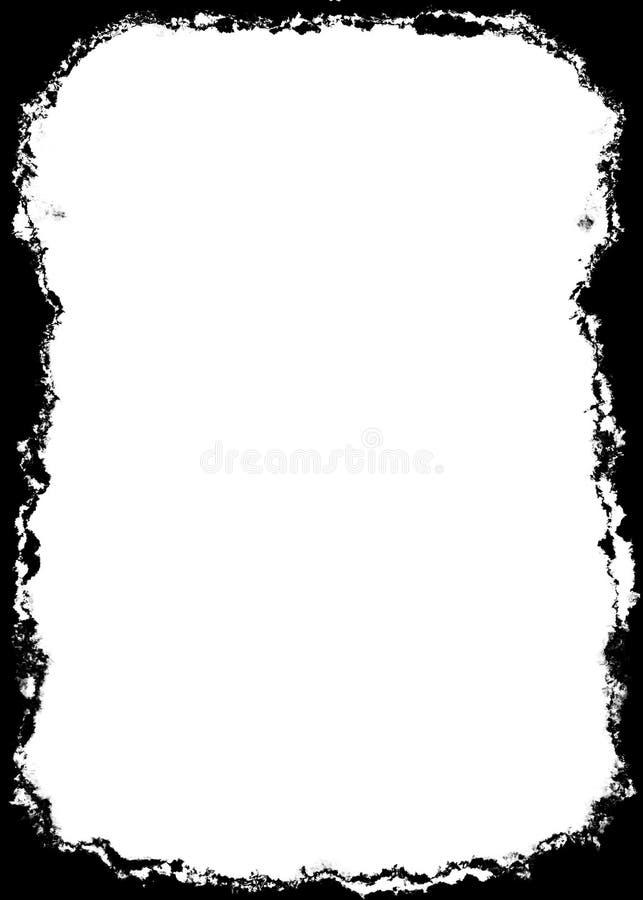 Abstracte Decoratieve Zwarte Fotorand/Bekleding voor Portretfoto's royalty-vrije illustratie