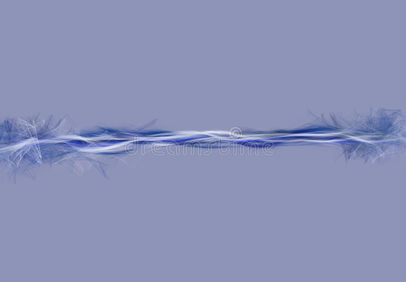 Abstracte deeltjes blauwe stroom vector illustratie