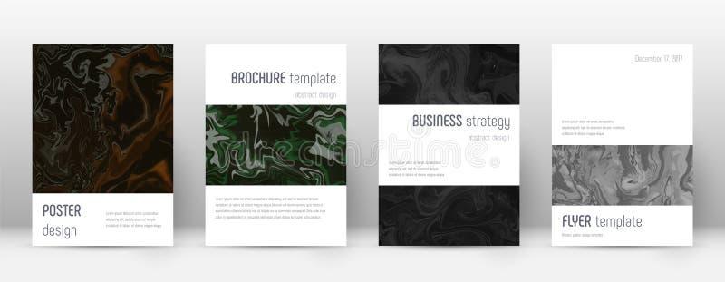 Abstracte dekking Beauteous ontwerpmalplaatje Suminagashi marmeren minimalistic affiche Beauteous in stock illustratie