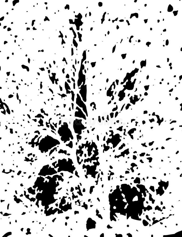 Abstracte Dekkingsachtergrond Zwart-wit textuuraffiche Grungeomslag Vector illustratie gekrast vector illustratie