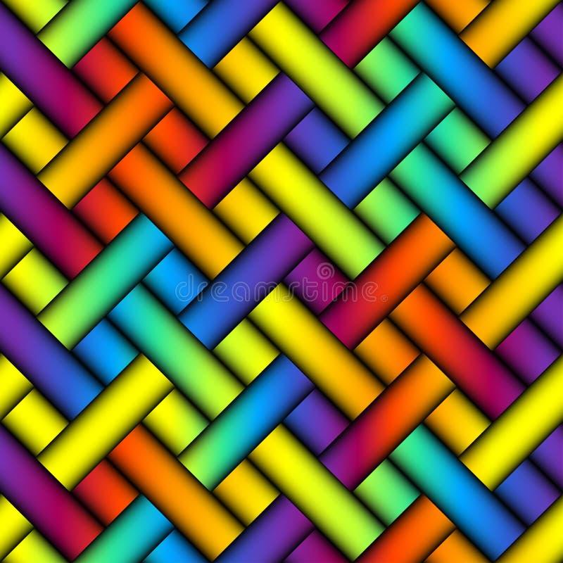Abstracte diagonale plaidachtergrond vector illustratie