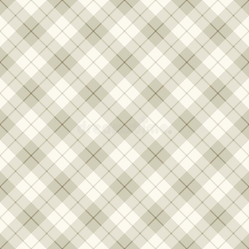 Abstracte diagonale Schotse plaid stock illustratie